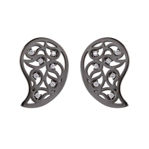 image of Sonal Bhaskar small_earrings_black_and_clear_front_