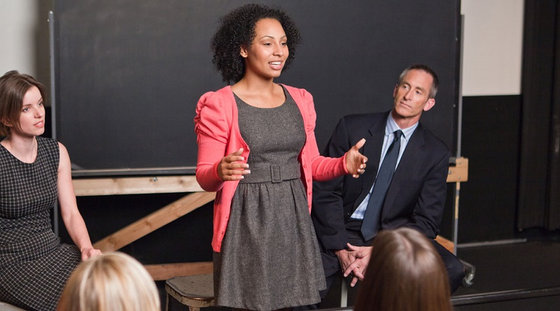image of woman public speaking : 4 COPYRIGHT TOASTMASTERS