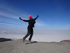 image of Natalie on trip to Mount Kilimanjaro