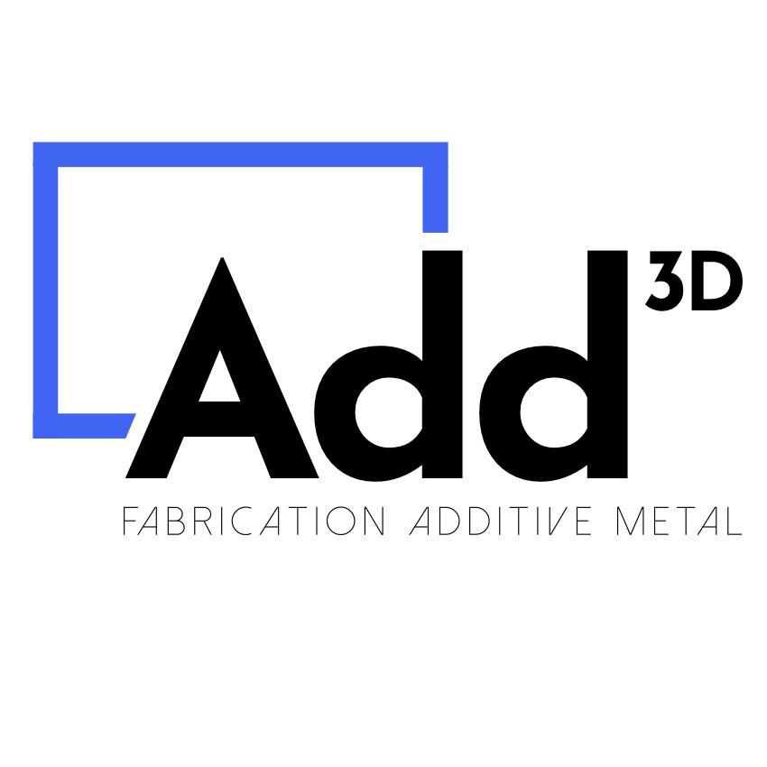Le logo Logo Add3D de Précision IMS. Fabrication additive métallique. Fabrication de moules et pièces mécaniques
