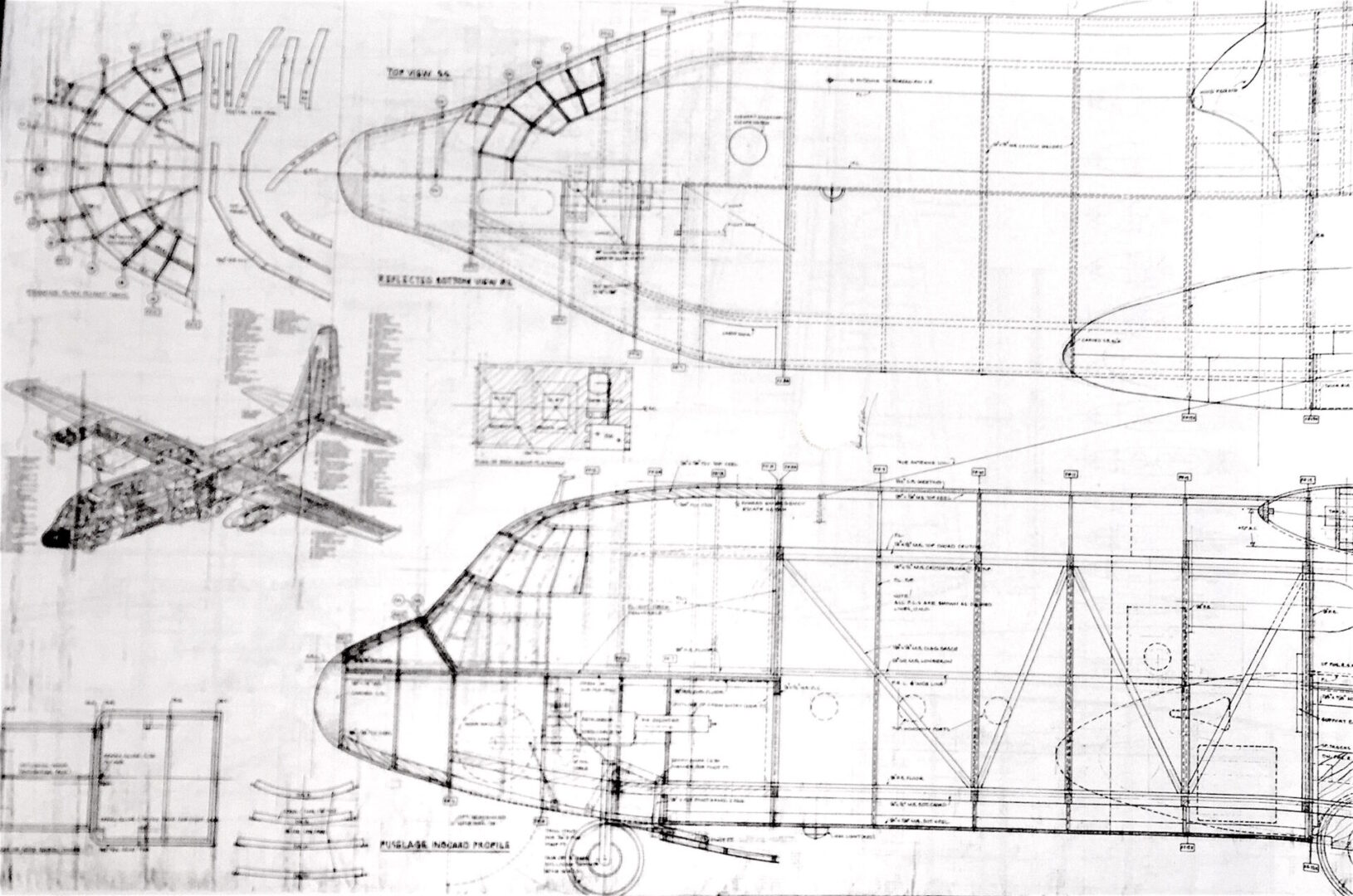 "Herky Bird C-130H (132"") Plan Set & Building Manual"