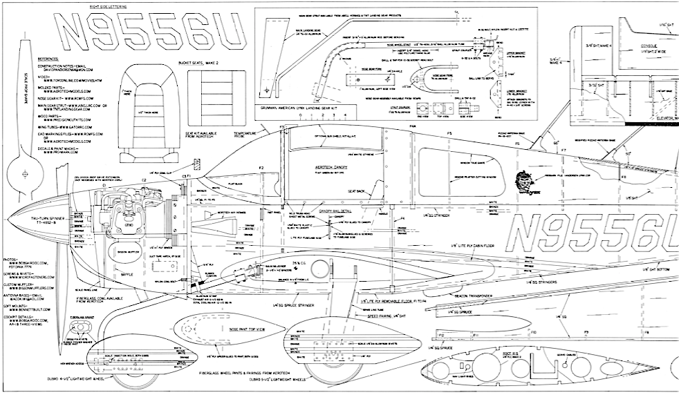 "Grumman Lynx (98"") Plan Set"
