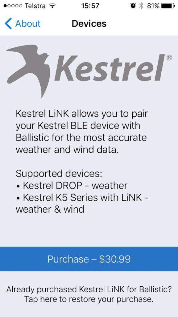 Kestrel Drop Ballistics/Ballistic AE installation 5