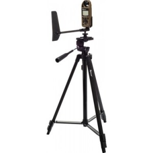 Kestrel Sportsman Weather Meter with Applied Ballistics on tripod with vane mount