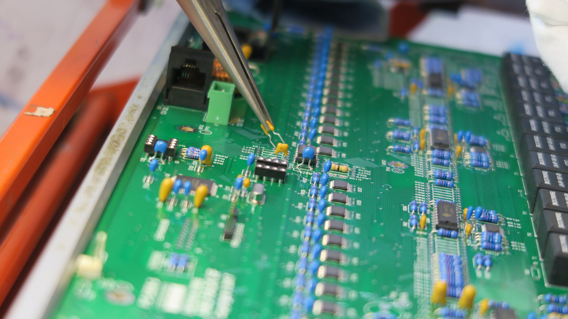Placing a component on a PCB using a tool