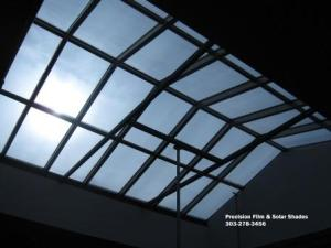 A huge skylight in downtown Denver we installed window tint on. Totally cuts down on the glare.