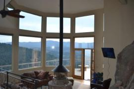 This picture is with the window tint completly installed on the house in Evergreen, Colorado.