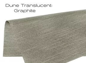 Elements Dune Translucent Graphite window shade fabric