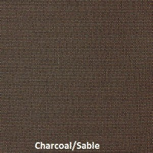This picture shows our Charcoal/Sable fabric sample for solar screens, M Screen series.