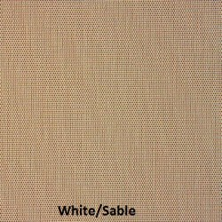 Here is White/Sable fabric sample for M Screen series of solar screens.
