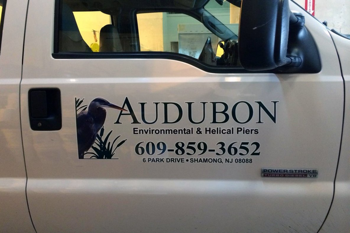 Audubon Environmental Gets Vehicle Signage for Their Work Truck - Signs
