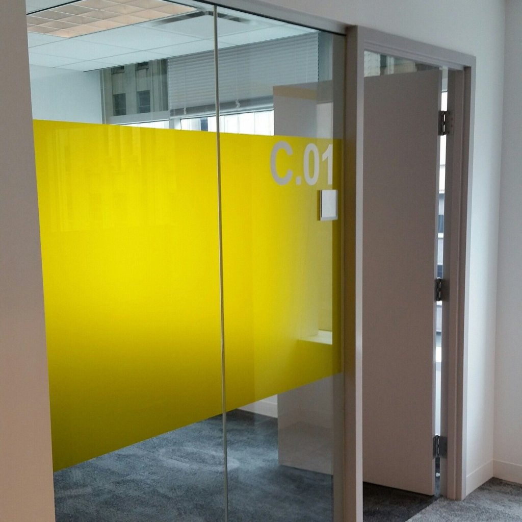 Interesting Decorative Glass Film Job Adds New Flair to Office Space 2