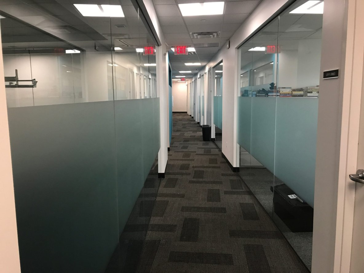 Add Privacy & Branding to Offices with Frosted Glass Films -Transform Philadelphia Area Glass Panels by Retrofitting Decorative Window Films - Decorative Glass Film in Philadelphia. PA