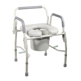 Drive Medical Steel Drop Arm Bedside Commode With Padded