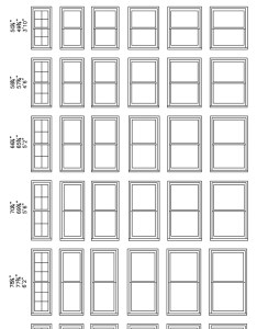 Double hung windows made in the usa by precision millworks standard window sizes chart also size tcworks rh