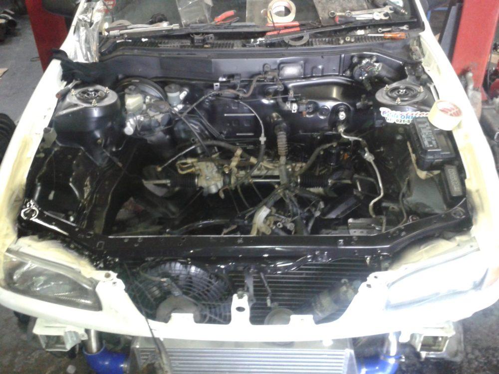 medium resolution of engine bay respray black 20140806 143650
