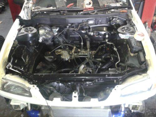 small resolution of engine bay respray black 20140806 143650
