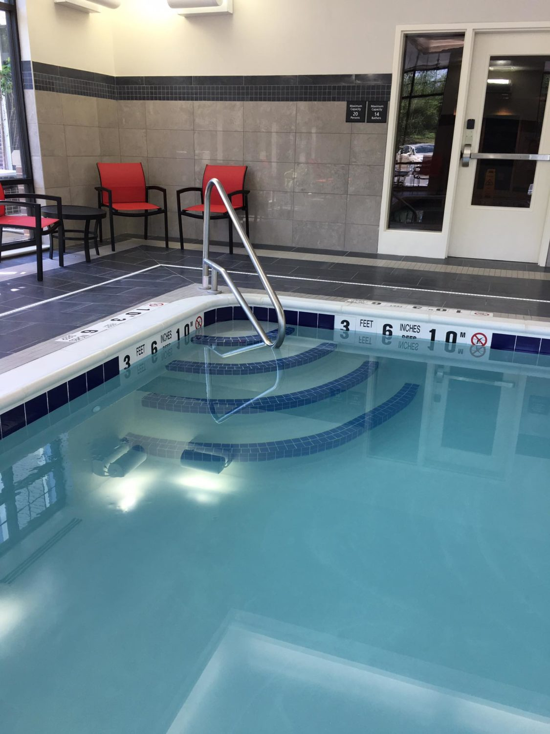 ADA compliant pool lift chair, commercial pool instalallation