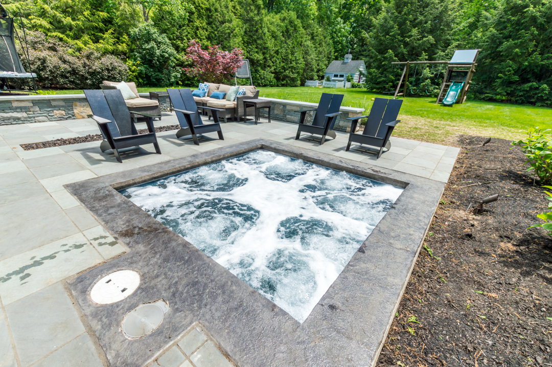 inground gunite spa, luxury hot tub, plunge pool design,