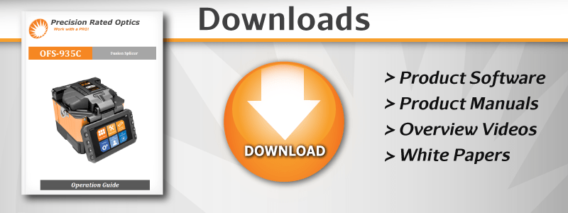 PRO Product Downloads - Splicer, OTDR, PM/LS