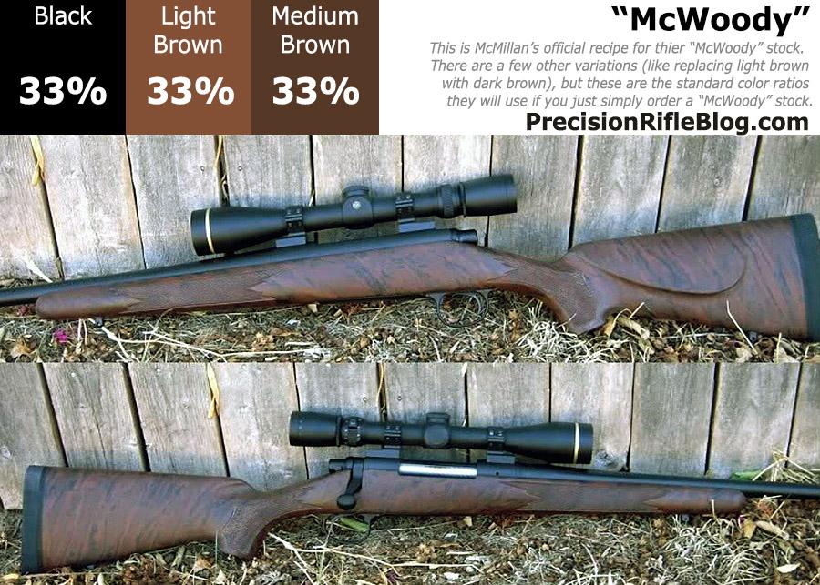 McMillan Stock Colors  McWoody 33 Black 33 Light