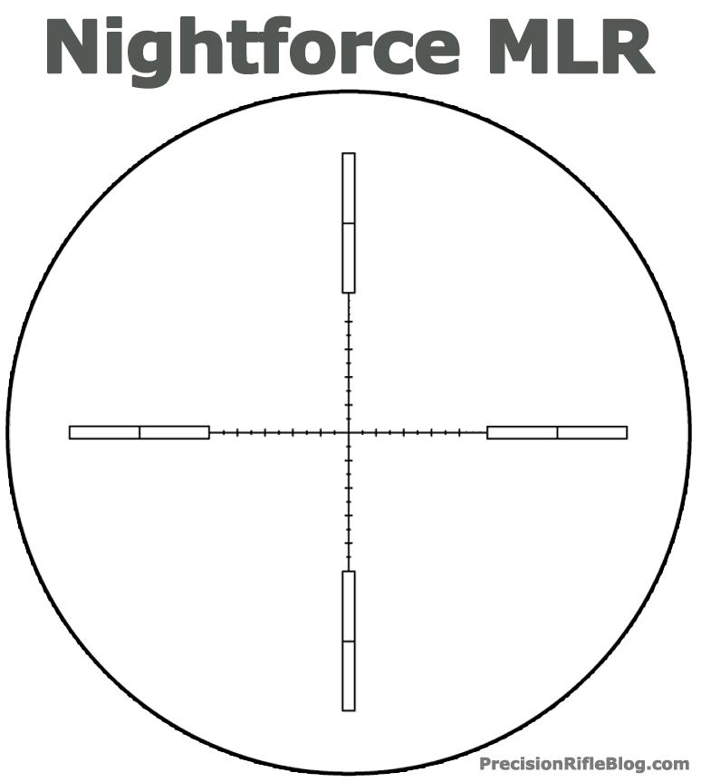 Nightforce MLR Scope Reticle  PrecisionRifleBlogcom