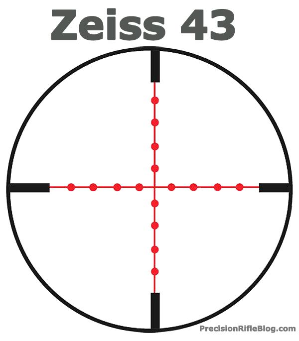 Zeiss Reticle 43 Mild-dot Scope Reticle