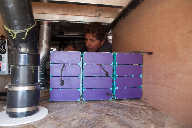 Solar power lithium battery installation - Precision RV