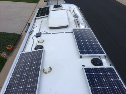 Airstream Solar, 400 watts, battery monitor, 220 AH AGM, 100 watt Inverter