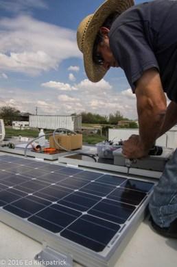 Solar Panel Installation on the Winnebago View RV