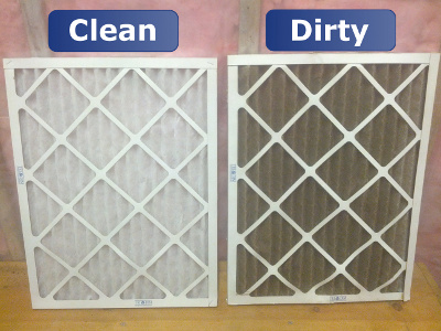 Clean and Dirty Air Filters