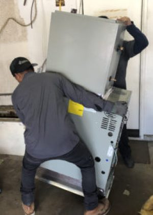 Replacing a furnace in residential home