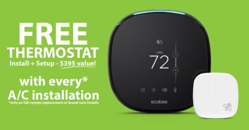 Free ecobee with air conditioner installation
