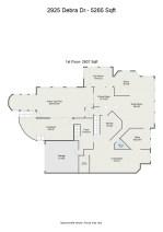 Floorplan letterhead - 2925 Debra Dr.- 5265 Sqft - 1st Floor- 2807 Sqft - 2D Floor Plan