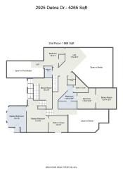 Floorplan letterhead - 2925 Debra Dr.- 5265 Sqft - 2nd Floor- 1968 Sqft - 2D Floor Plan