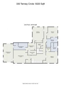 Floorplan letterhead - 330 Tenney Circle- 5020 Sqft - 2nd Floor- 2576 Sqft - 2D Floor Plan