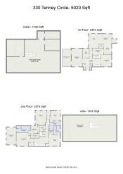 Project letterhead - 330 Tenney Circle- 5020 Sqft - 2D Floor Plan