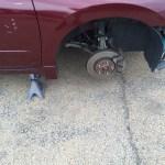 Precision Wheel Repair - Rims Removed