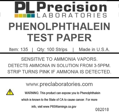 phenolphthalein, phenolphthalein test paper
