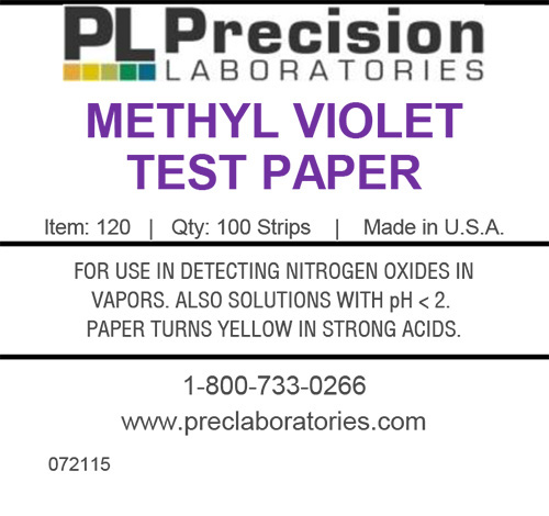 methyl violet test paper, test paper, test strips, methyl violet, pH test paper