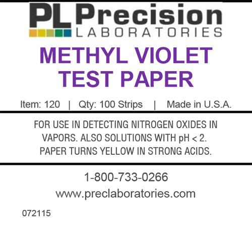 methyl violet test paper, test paper, test strips, methyl violet, pH test paper