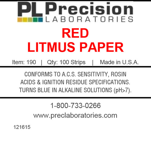 red litmus test paper precision laboratories
