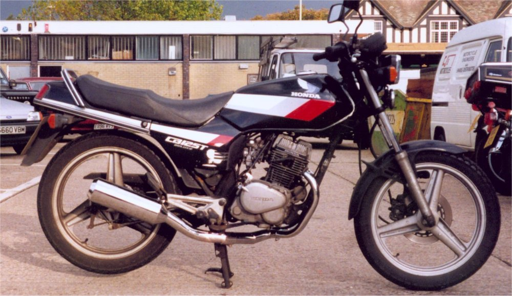 medium resolution of honda cb125tdc superdream pro link exhaust system with removable baffle brushed stainless