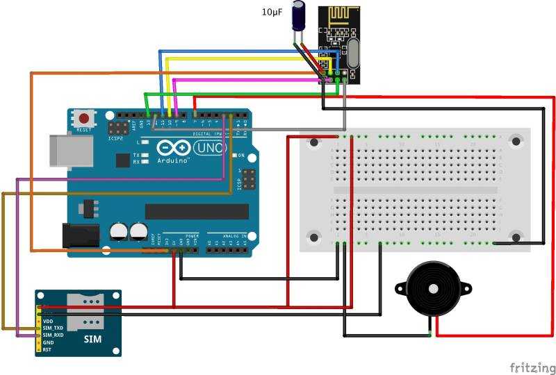 Analog Joystick Wiring Diagram How To Build A Gsm Cellular Panic Alarm Using An Arduino
