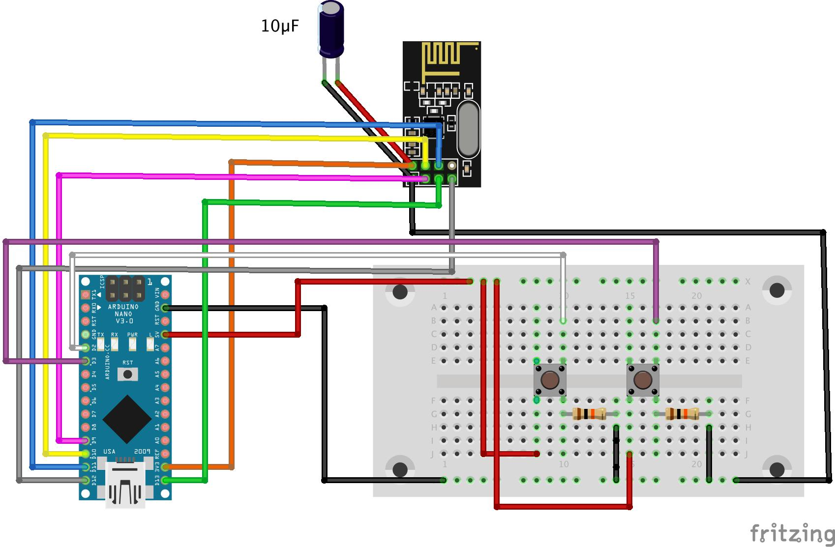 hight resolution of as you can make out from the sketch i have connected the nrf24l01 in the same fashion as the controller with the only difference being that i ve used the