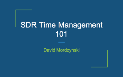 Time Is Money: How Demandbase's David Mordzynski Structures His Workday To Get The Most Out Of His Time…And His Quota