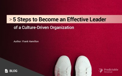 5 Steps to Become an Effective Leader of a Culture-Driven Organization