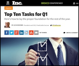 Read the Top Ten Tasks for Q1