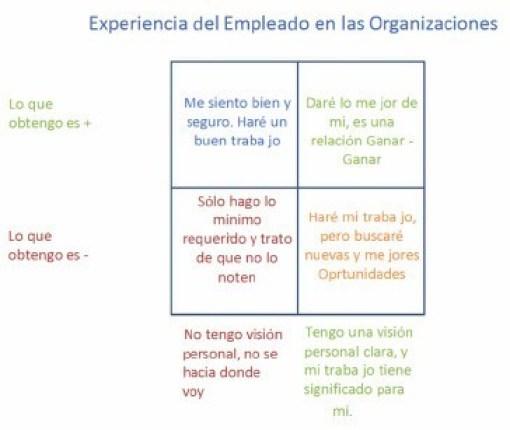 Figura 3. Experiencia del Empleado en las Organizaciones