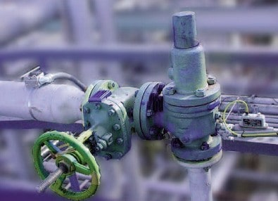 Ilustración 29. Disposición de sensores en una válvula de seguridad